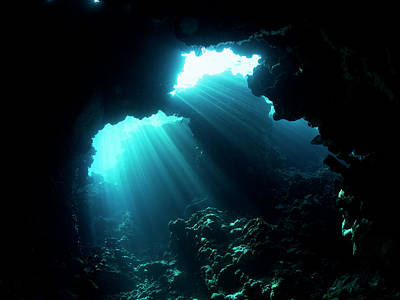 Cave Wall Art - Photograph - Underwater Cave by Ilan Ben Tov
