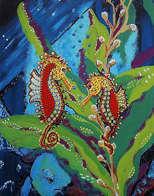 Painting - Underwater Courtship by Kelly Nicodemus-Miller