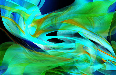 Digital Art - Underwater Flight by rd Erickson