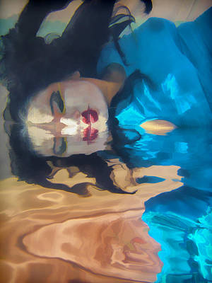 Underwater Geisha Abstract 1 Art Print