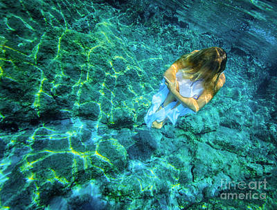 Photograph - Underwater Meditating by Anna Om