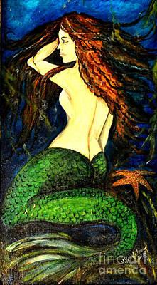 Painting - Underwater Mermaid by Valarie Pacheco