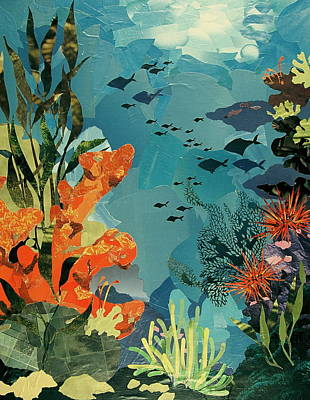 Mixed Media - Underwater by Robin Birrell