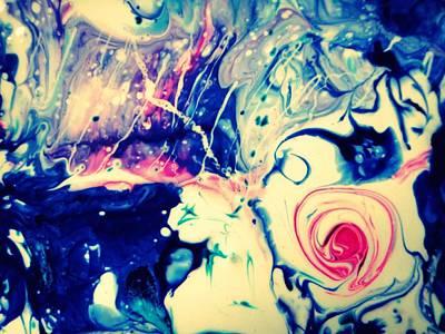 Underwater Rose Art Print by Mlle Marquee