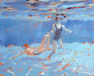 Summer Sports Painting - Underwater  by Sarah Butterfield