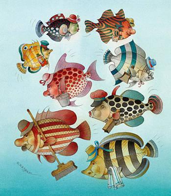 Painting - Underwater Story 01 by Kestutis Kasparavicius