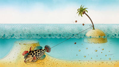 Palm Drawing - Underwater Story 03 by Kestutis Kasparavicius