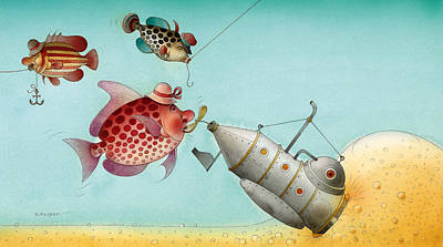 Painting - Underwater Story 04 by Kestutis Kasparavicius