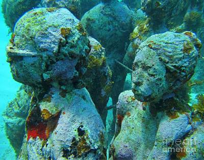 Underwater Tourists Art Print