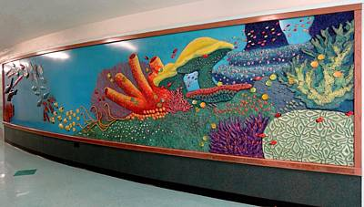Mural Mixed Media - Underwater Vision by Elizabeth Criss