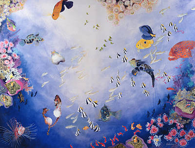 Colorful Tropical Fish Painting - Underwater World Iv  by Odile Kidd