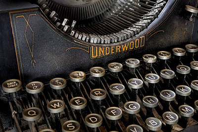 Timeless Photograph - Underwood Typewriter Details by Susan Candelario