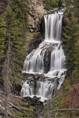 Photograph - Undine Falls by Wes and Dotty Weber