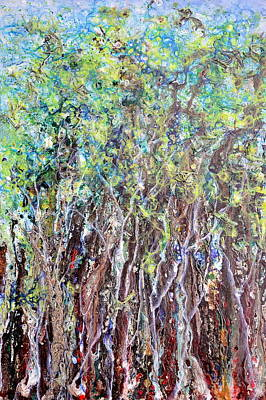 Painting - Undulating Wood by Regina Valluzzi