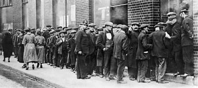 Dole Photograph - Unemployed Men In London by Underwood Archives