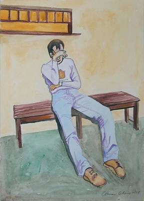 Painting - Unemployment Blues by Esther Newman-Cohen