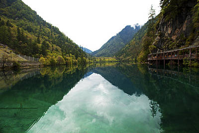 Photograph - Unesco Landscpe Photostories Of Tibet Jiuzhaigou by Sundeep Bhardwaj Kullu sundeepkulluDOTcom