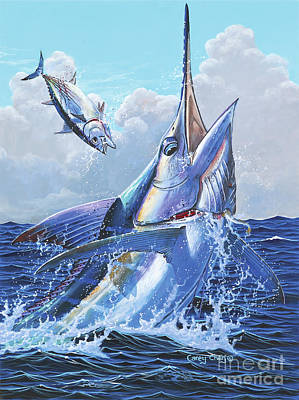 Great White Shark Painting - Unexpected Off0093 by Carey Chen