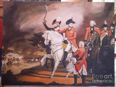 unfinished 72 x 54 inch 183 x 137 cm King George lll on Horseback at a Review Original by Richard John Holden RA