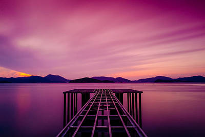 Unfinished Pier At Sunset Art Print