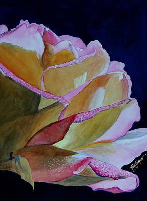 Unfolding Rose Art Print by Ruth Bodycott