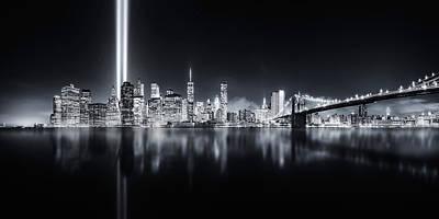 Skyscraper Photograph - Unforgettable 9-11 by Javier De La
