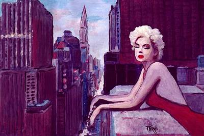 Painting - Unforgettable Marilyn Monroe Feat By Michelle Williams by Mirko Gallery