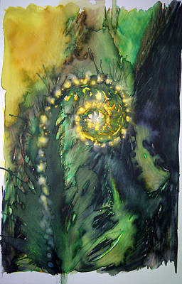 Unfurling Fern Of Light Art Print by Tara Thelen