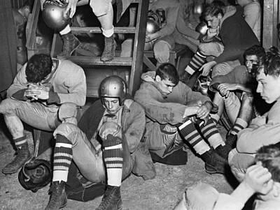 Photograph - Unhappy Football Team by Walter Albertin
