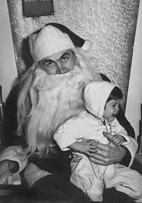 Crying Photograph - Unhappy Santa Claus by Underwood Archives
