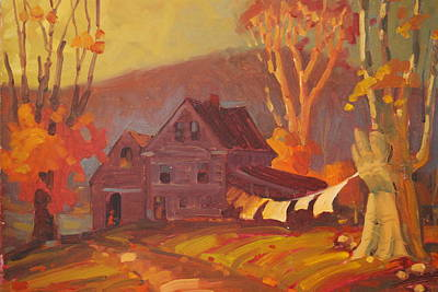 Old Farmhouse Painting - Unhaunted by Len Stomski