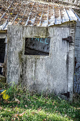Nikki Vig Royalty-Free and Rights-Managed Images - Unhinged Wooden Door by Nikki Vig