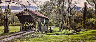 Photograph - Unicoi Covered Bridge by Heather Applegate