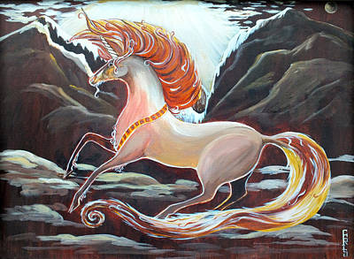 Painting - Unicorn Abstract Painting by Chris McCullough