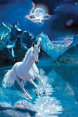 Unicorn Art Print by Andrew Farley