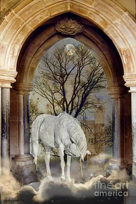 Mythical Creatures Digital Art - Unicorn Arch by Judy Wood