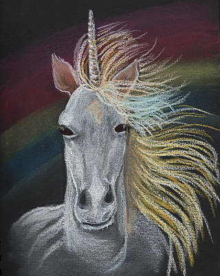 Painting - Unicorn by Dorothy Riley