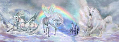 Rainbow Art Mixed Media - Unicorn Dreams by Carol Cavalaris
