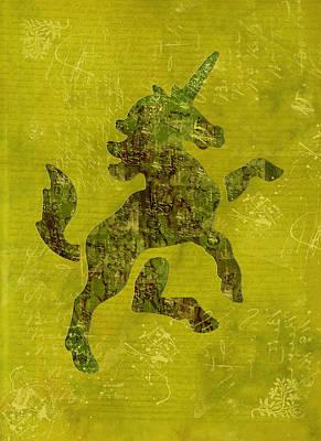 Unicorn Fresco Art Print by Sarah Vernon