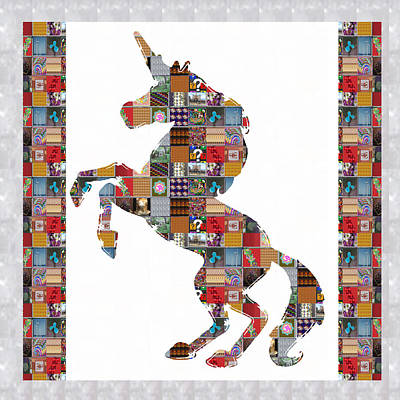 Navinjoshi Painting - Unicorn Horse Showcasing Navinjoshi Gallery Art Icons Buy Faa Products Or Download For Self Printing by Navin Joshi