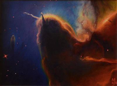 Stellar Stars Nursery Painting - Unicorn Nebula by Maja  Opacic
