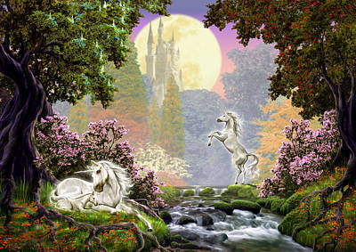 Unicorn New Born Art Print