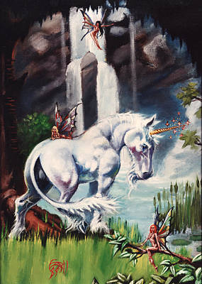 Unicorn Spring Art Print by T Ezell