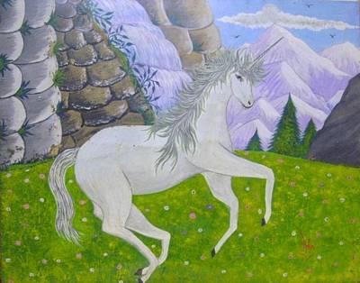 Syeda Ishrat Painting - Unicorn by Syeda Ishrat