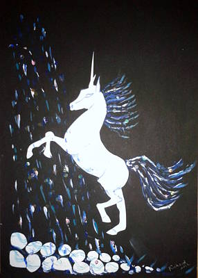 Painting - Unicorn Takes A Shower by Veronica Rickard