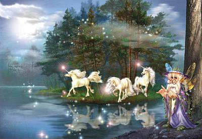 Indigo Photograph - Unicorn Wizard Pool by Zorina Baldescu