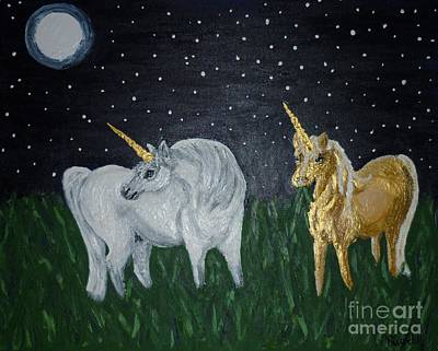 Unicorns For Julie Art Print by Cassandra Buckley