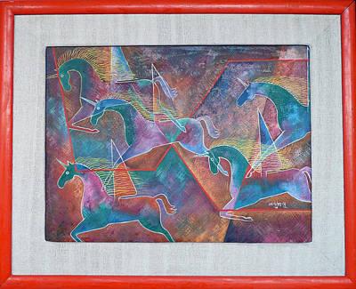 Ugalde Painting - Unicorns by Roberto Ugalde