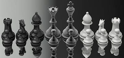 Chess Player Digital Art - Unification by Nogoud Fwete