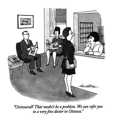 Insurance Drawing - Uninsured? That Needn't Be A Problem by J.B. Handelsman